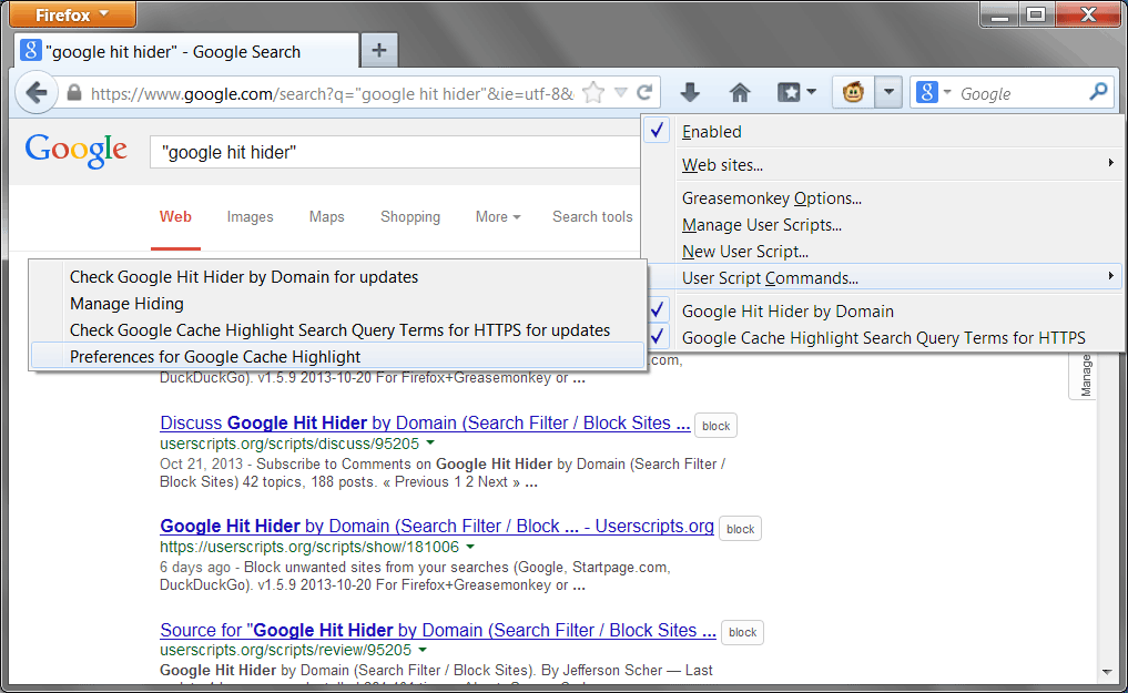 Google Cache Highlight Search Query Terms for HTTPS for Greasemonkey