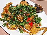 Soft Shelled Crabs and Fried Basil