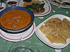 Masaman beef tongue with roti