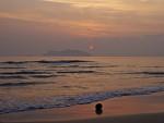 Sunrise on the beach in Chumphon