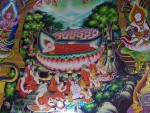 Oranate mural at Wat That Noi near Nakhon Si Thammarat (notice the Siamese cats)