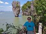 """View of Nail Rock from """"James Bond Island"""" on Phang-nga Bay"""