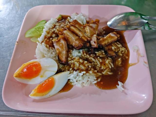 crispy pork over rice