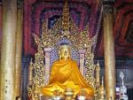 Shan-style Buddha image at Wat Nantaram, Chiang Kham