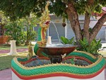 Naga Fountain at Wat Nantaram, Chiang Kham