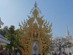 Elaborate shrine at the White Temple, Chiang Rai