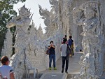 Guardian statues at the White Temple, Chiang Rai