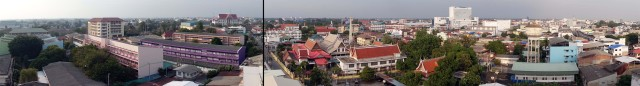Panorama from 8th floor of Pailyn Hotel, Phitsanulok