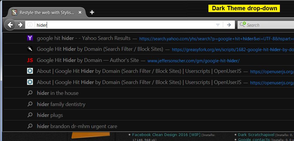 URL Bar Tweaks - Remove Visit/Search & Limit Width