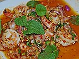Shrimp and lemongrass salad at Thon Krueng, Bangkok