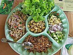 Miang of mackeral salad at A. Mallika