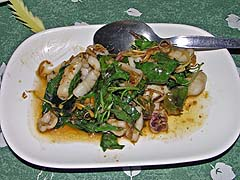 Basil squid