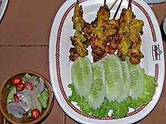 Chicken satay at Thon Krueng