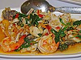 Seafood with Basil at My Choice Restaurant