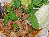 Larb of Pork Neck Meat at Toh Plue Restaurant, Chatuchak Market