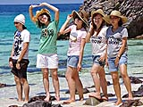 Tourists with Great Tees, Koh Khai, Tarutao Park