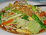 Mixed Vegetables, Lipe Resort dining room, Koh Lipe