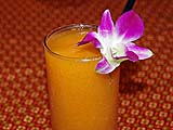 Delicious papaya smoothie with a touch of lime at Ruen Mai, Krabi