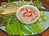 Shrimp dip and crunchy vegetables, Nakhon Si Thammarat