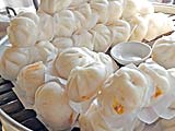 Piles of steamed buns at the ''Bun Village''