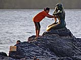 Honoring the Mermaid on Samila Beach, Songkhla