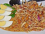 Salad of thinly sliced banana blossoms and coconut milk dressing, Samila Sea Sport restaurant, Songkhla