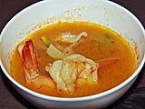 Hot and sour soup with shrimp, Samila Sea Sport restaurant, Songkhla