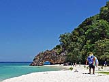 Scenic beach on Koh Kai, Tarutao Park