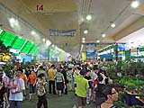 Huge crowd at weekend flower market