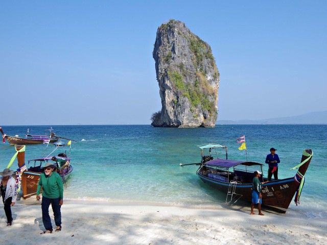 Famously photogenic beach on Poda Island near Krabi