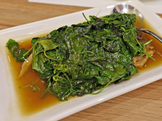 duck with greens
