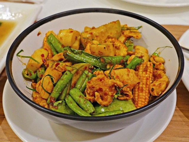 dry curry chicken and vegetables