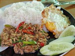 Basil Pork over Rice on the Road to Phitsanulok